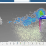 Dassault Systèmes OPENCOVID19 - SNEEZE SIMULATION 2